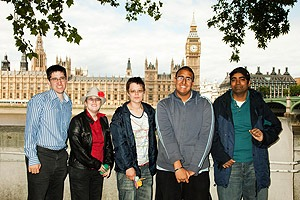 Dinesh (second from right) with co-delegates to the Government's consultation for the adult autism strategy