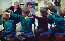 Peer massage can reduce anxiety, aggression and bullying.