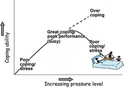 Figure 1. Graph showing the relationship between pressure and coping.