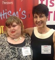 Anna Kennedy (right) with AGT singer Carly Ryan at the Autism Show.