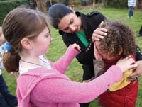Staff should seek to calm things down before considering restraint, say children.