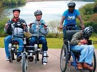 Cycles and other equipment can be adapted to suit most disabilities.
