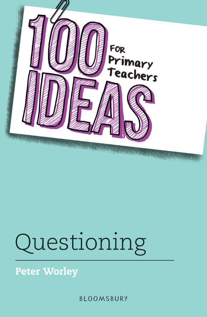 The blue cover of '100 ideas for primary teachers'