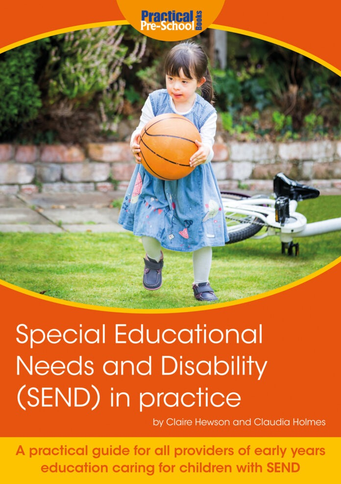 the cover of 'special educational needs in practice' with a girl in a blue dress throwing a basketball.